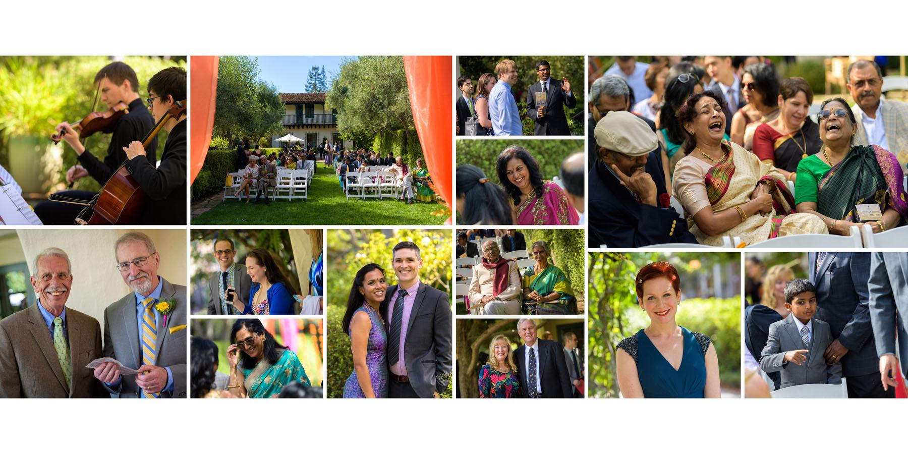 Candid guest photos –Allied Arts Guild –Menlo Park wedding photos –by Bay Area wedding photographer Chris Schmauch
