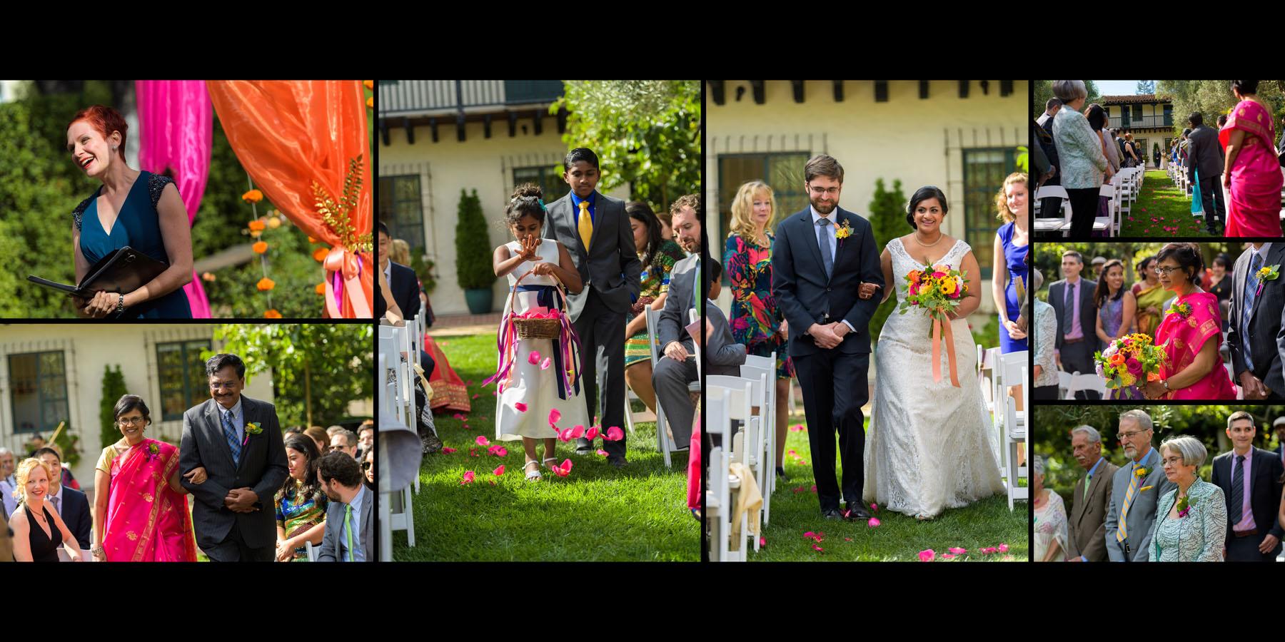 Outdoor Ceremony –Allied Arts Guild –Menlo Park wedding photos –by Bay Area wedding photographer Chris Schmauch