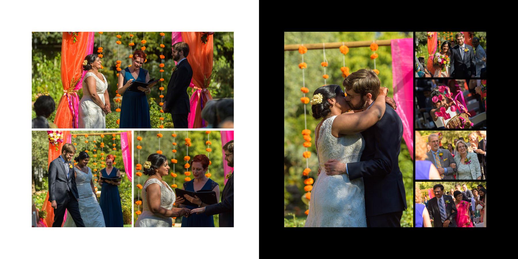 The Kiss –Allied Arts Guild –Menlo Park wedding photos –by Bay Area wedding photographer Chris Schmauch