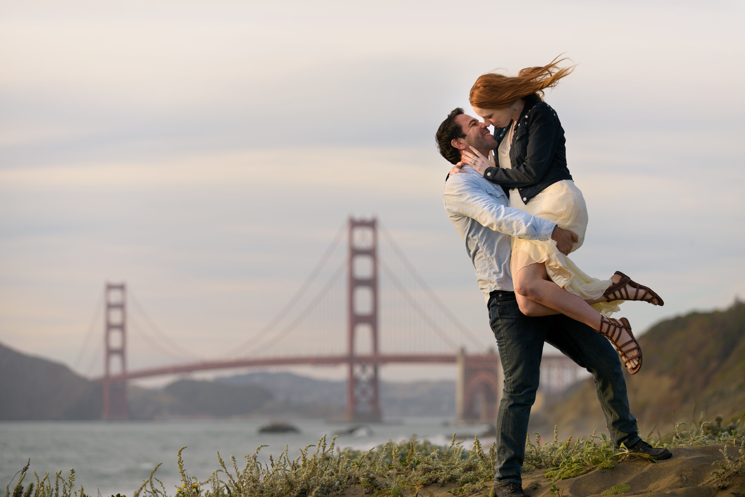 Engagement session at Baker Beach in San Francisco, California