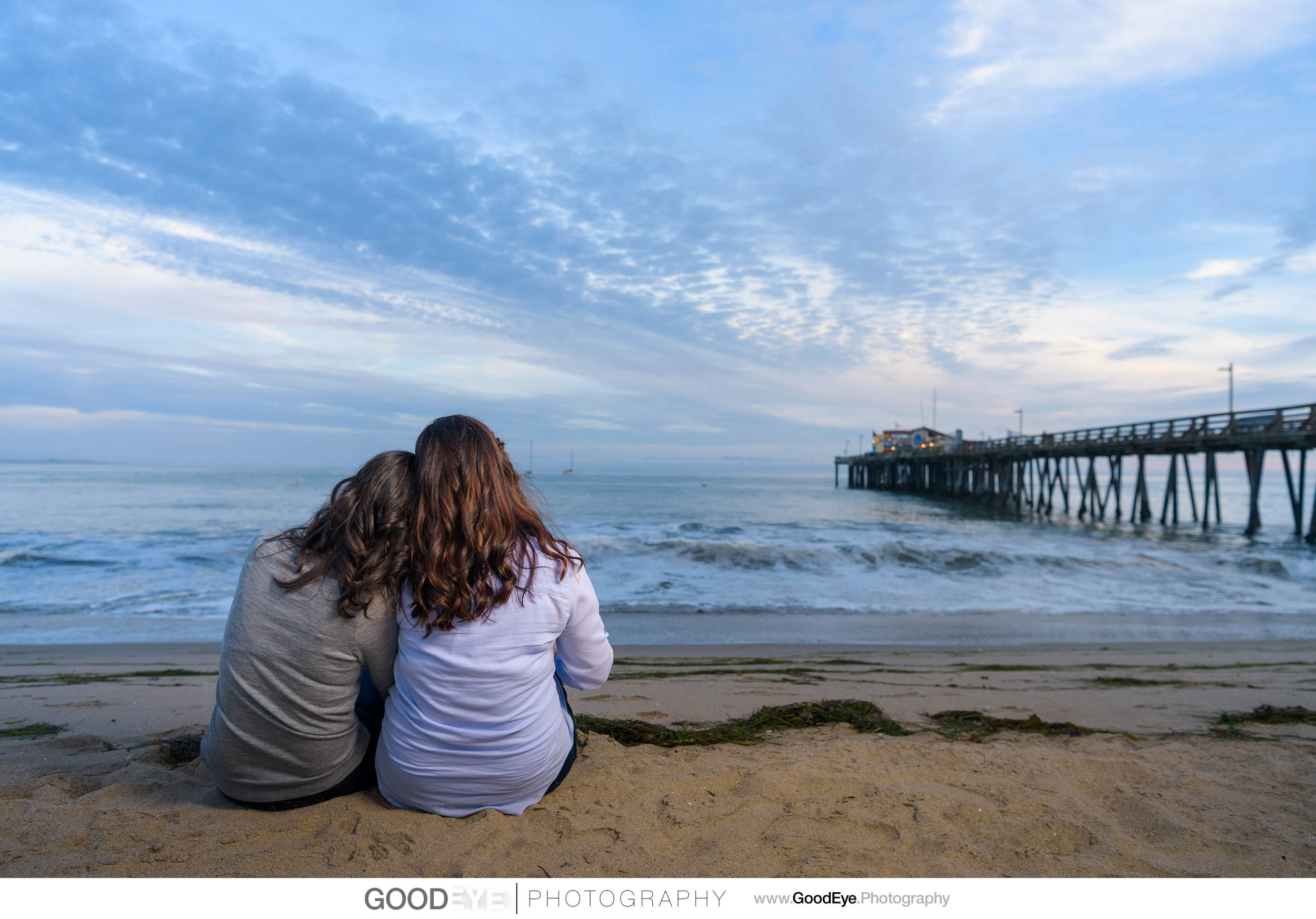 Capitola Beach engagement photos by Bay Area wedding photographe