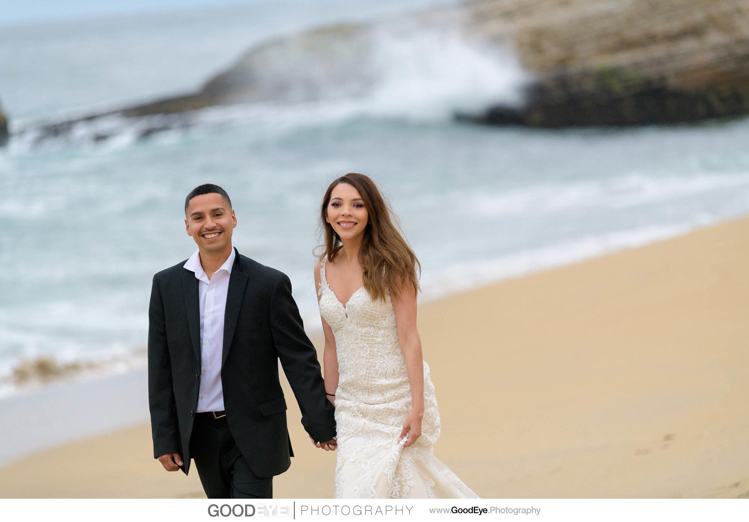 Trash the Dress Bridal Portraits at Panther Beach in Santa Cruz,