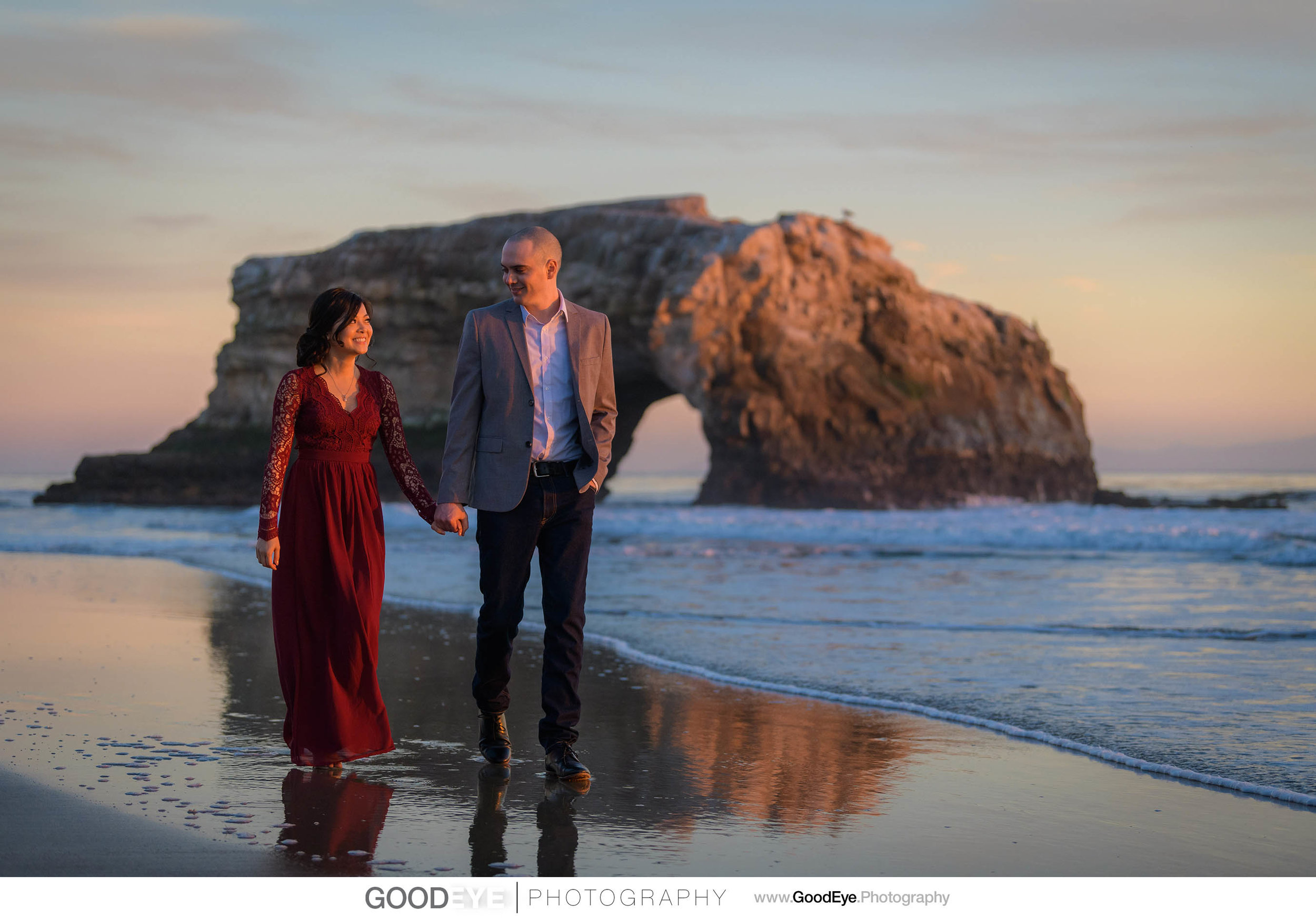 Santa Cruz Engagement Photos at Natural Bridges, by Bay Area Wed