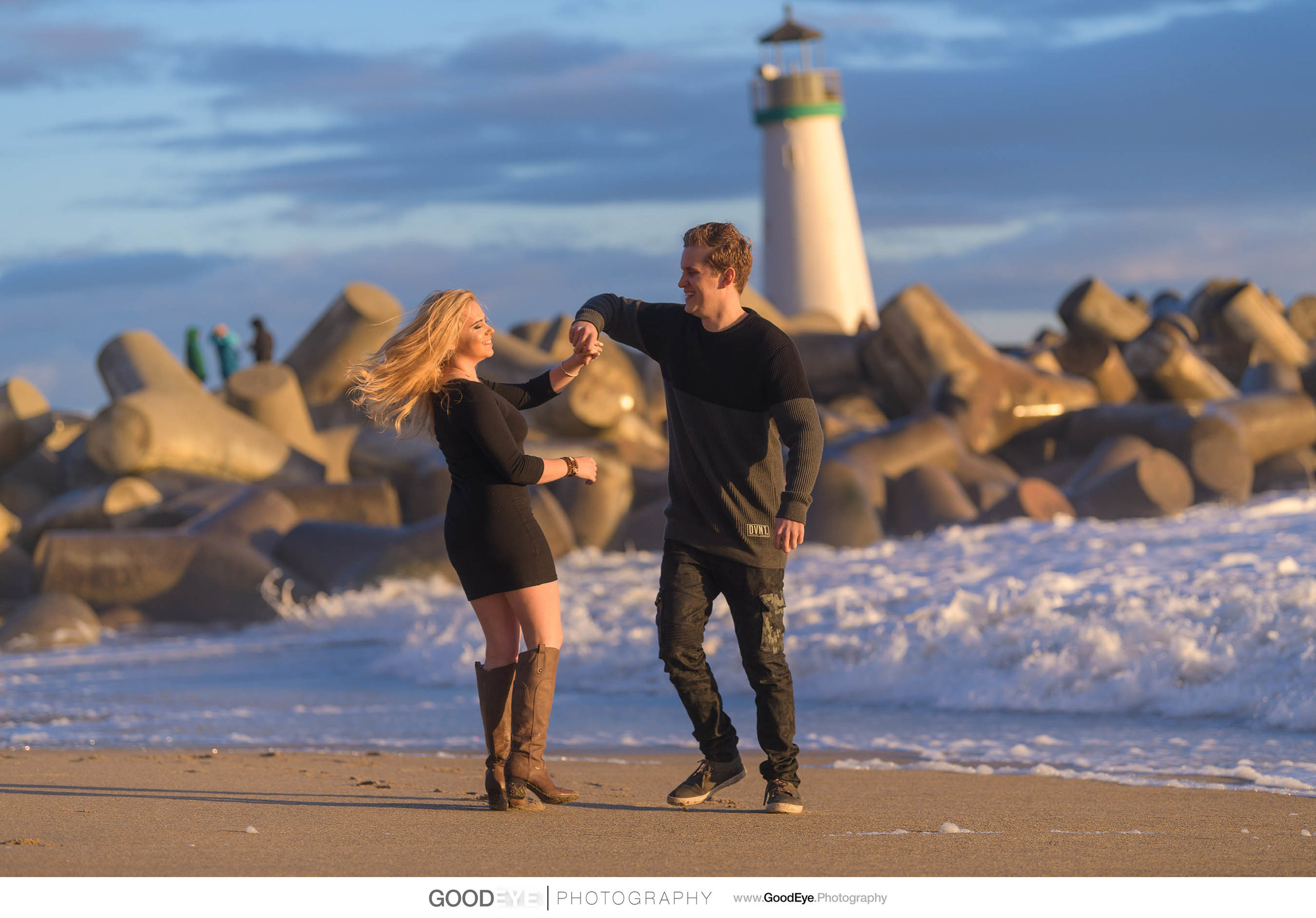 Seabright Beach Santa Cruz Engagement Photography - by Bay Area