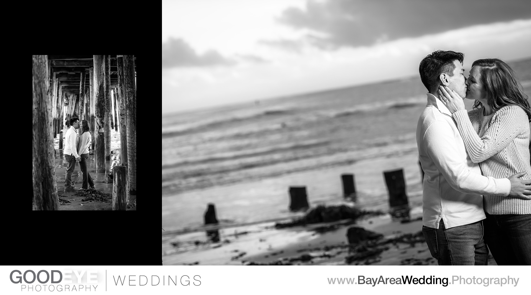 Capitola Beach Engagement Photos - by Bay Area wedding photograp