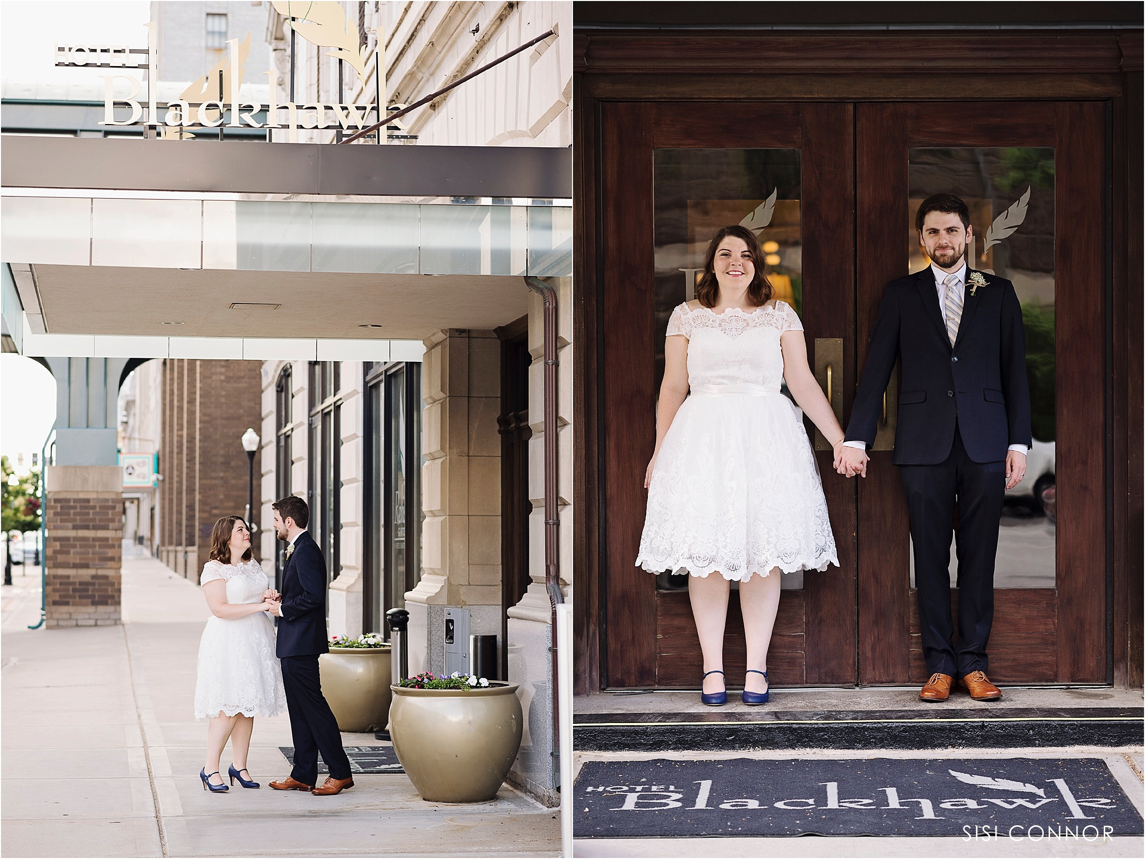 Hotel Blackhawk Wedding Portraits
