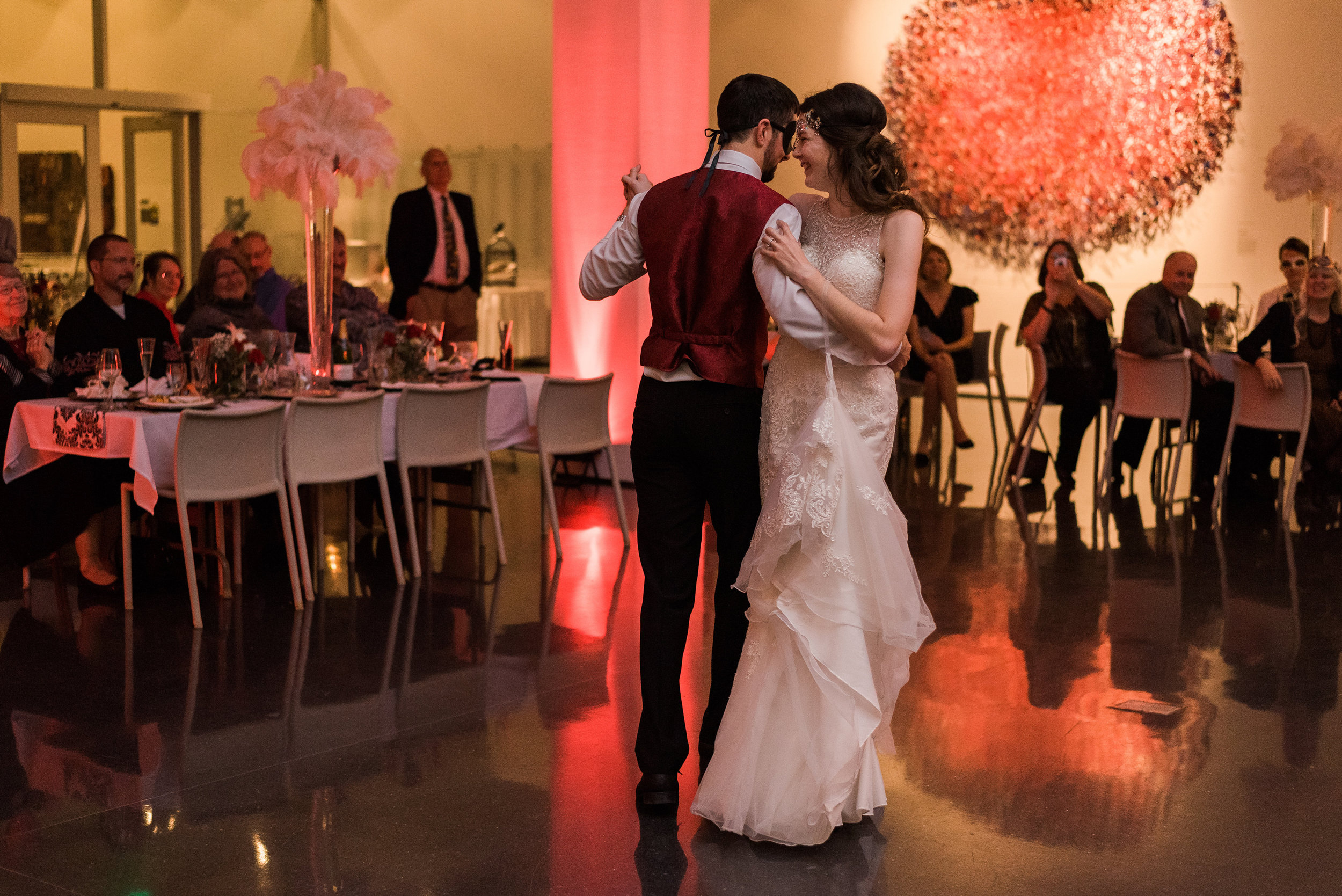 First Dance at the Figge Art Museum - Quad City Wedding