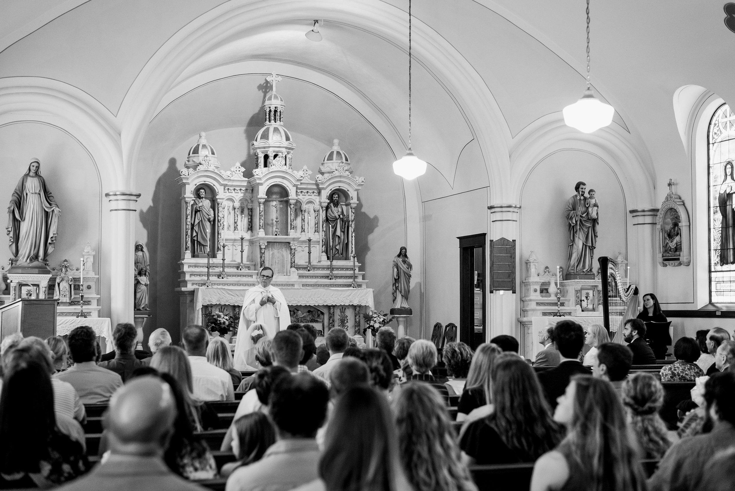Eastern Iowa Church Wedding