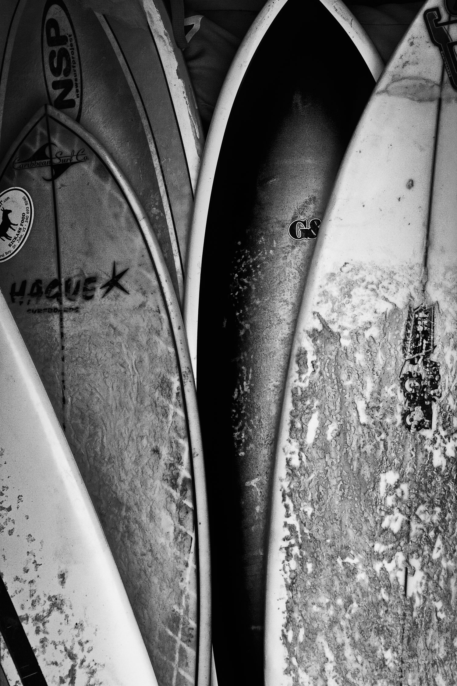Surfboards from Cinamon Bay, US Virgin Islands This image was the most circulated shot of mine in 2016 both through social media and commercially. It was taken in 2009.