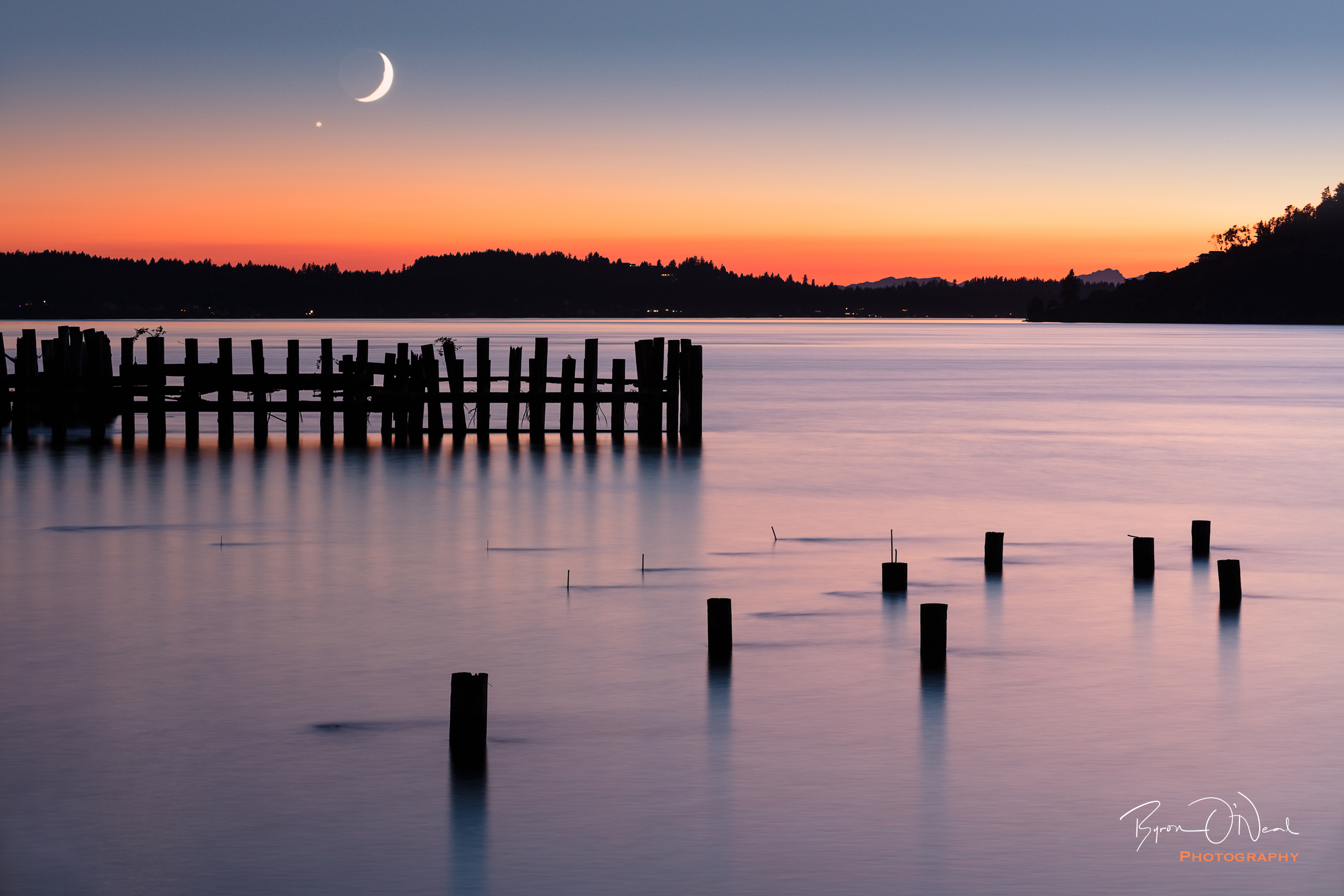Moon Over Titlow Beach