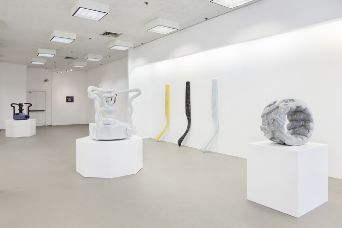 Installation shot of Peterson's 2014 solo show  Myst  at Proxy, Providence, RI Courtesy of Proxy, photos by Charles Benton
