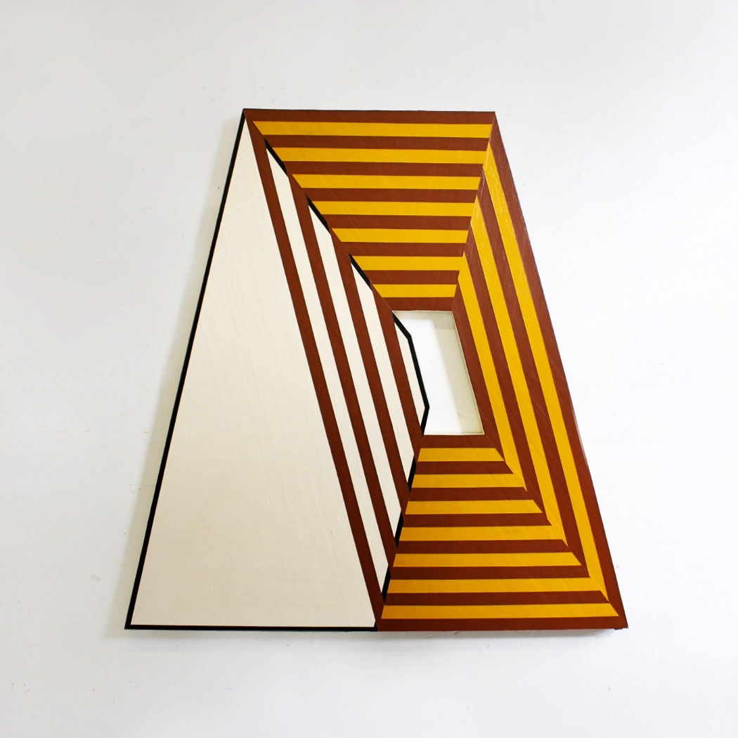Santa Fe I , 2015, Acrylic and Lacquer on Birch, 52 × 50 × 2 in