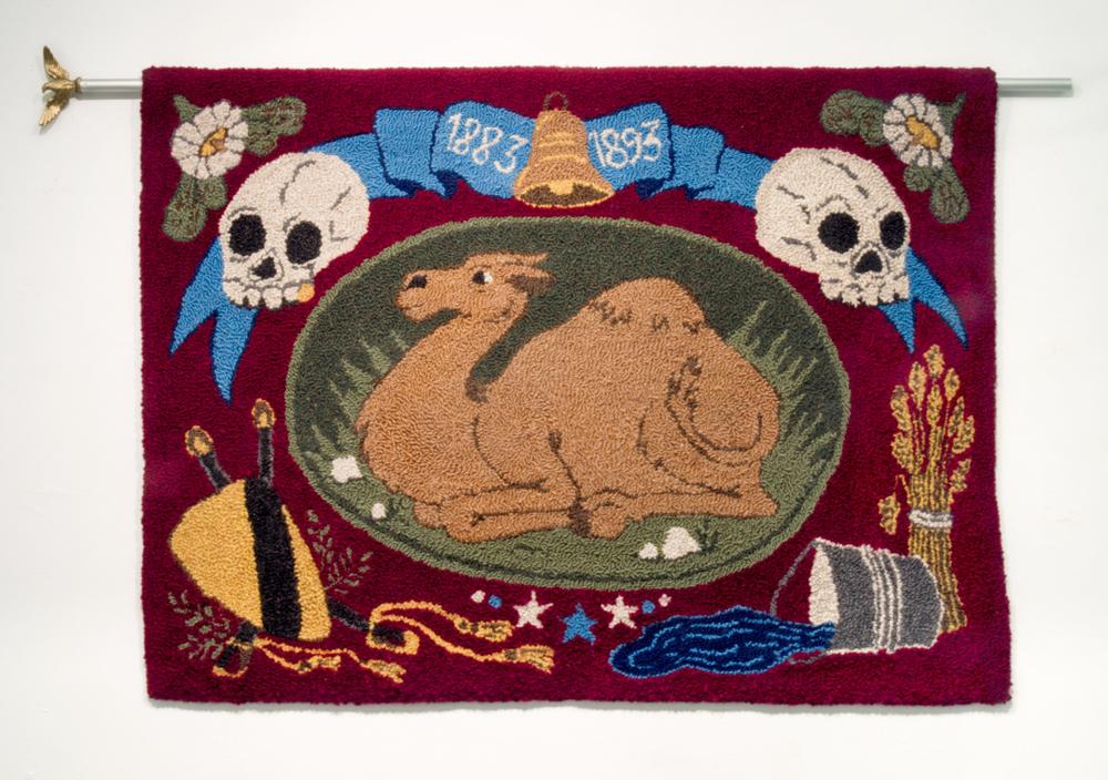 Fantasia Colorado , Cotton, flagpole, wool, 61 x 36 in, 2016