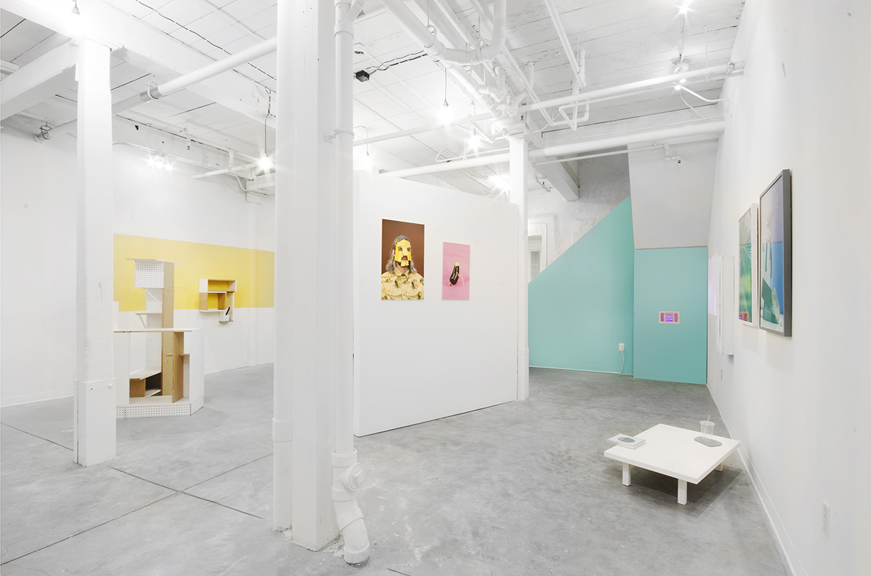 Installation shot of Besides at GRIN, January 2016