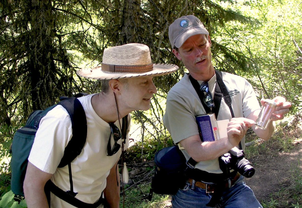 friends of CSNM Board Member Peter Schroeder (left) is the 2015 bioblitz coordinator. Citizen scientists* will work will help scientists  and naturalists gather data on butterfly diversity and abundance at the Monument on june 6, 2015.