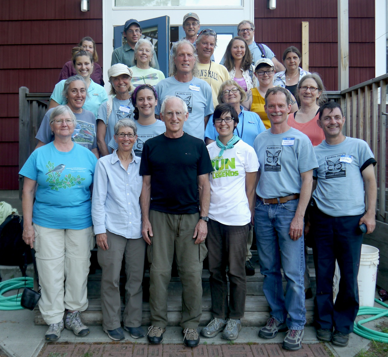 Peter schroeder, 2015 Bioblitz coordinator (2nd Right) stands with Research Team Leaders and Citizen Scientists. TPD Photo 2015