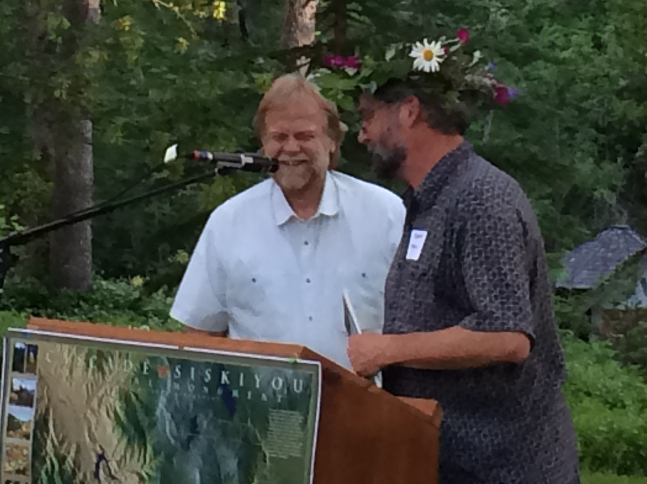 Dave Willis with Pepper Trail. Dave Willis was Awarded theTim Lillebo Wildlands Warrior Award by Oregon Wild. TPD Photo.