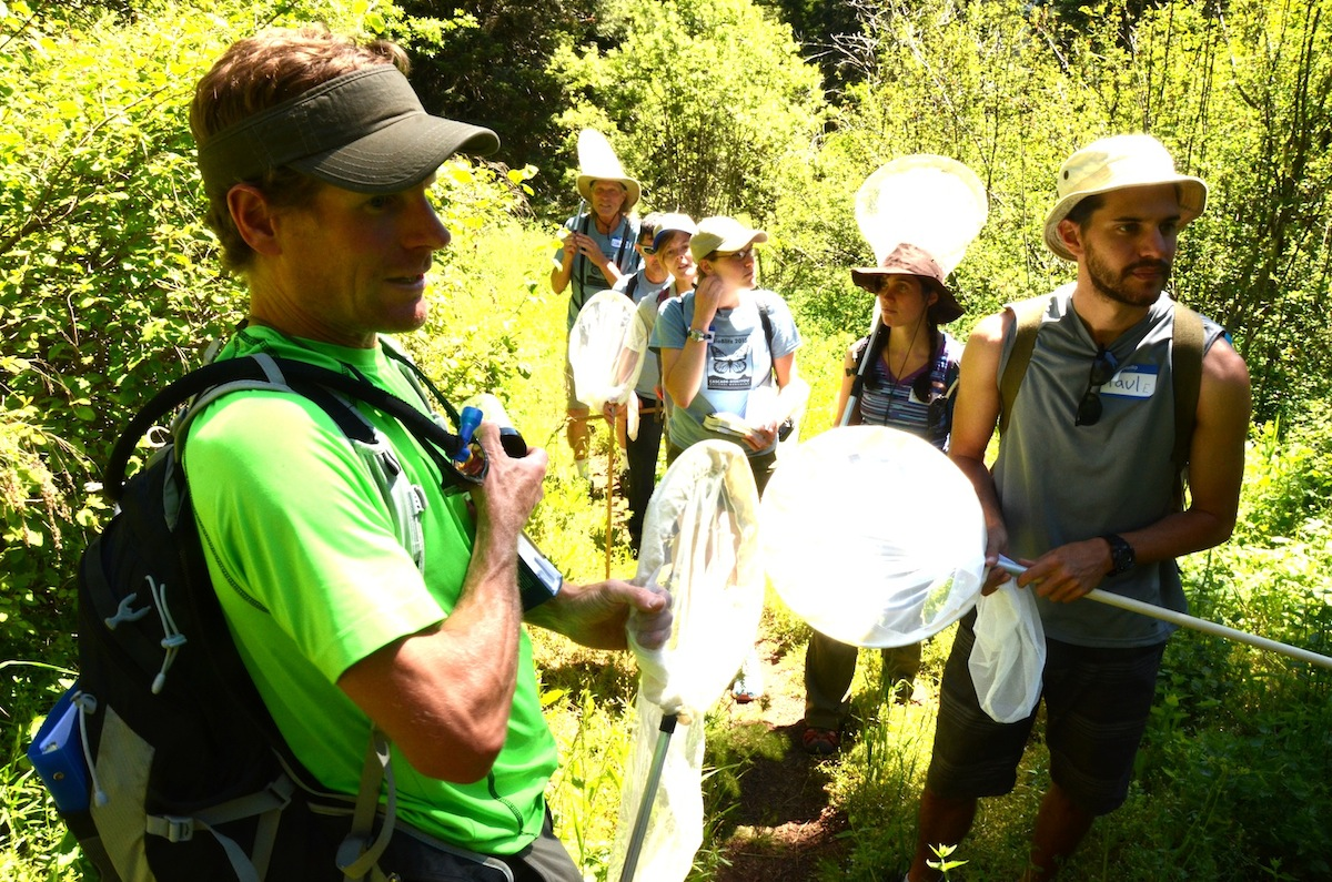 Jherime Kellermann, Oregon Institute of Technology Professor of Biology leads a Group of Citizen Scientists.