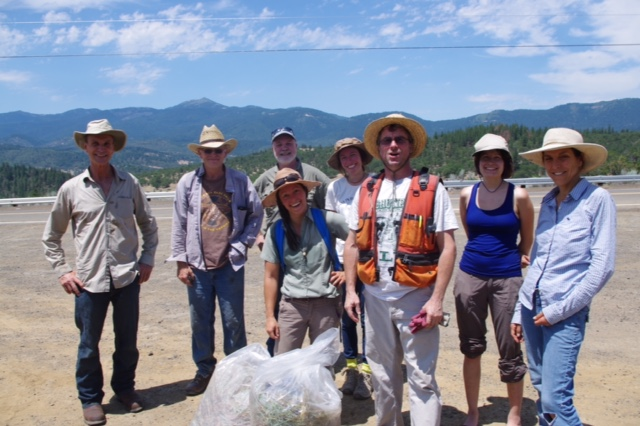 Many thanks to Our Conservation Service Project Volunteers at the Mariposa Lily Botanical Area. Front Row (from left to right): Hike and Leaders  Jeanine Moy  (KS Wild Adopt-A-Botanical Area Coordinator),  Armand Rebischke  (BLM Botantist), and  Julie Spelletich  (SONPS Botanist). 2015 Image by P. Schroeder.