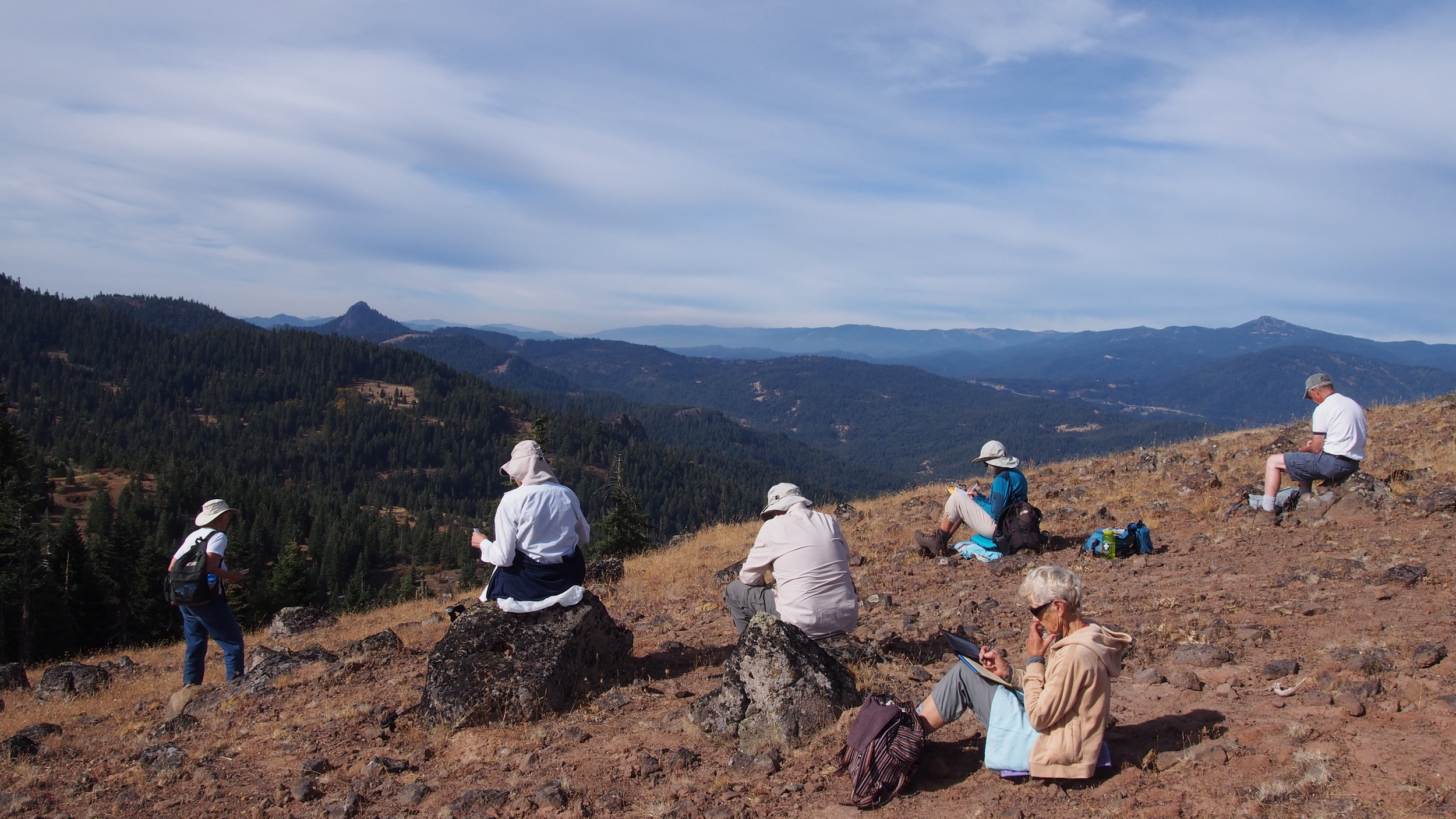 Participants write poetry, with a view toward Pilot Rock.