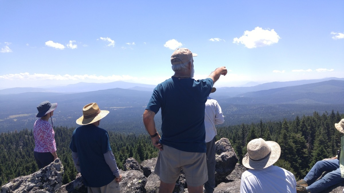 Dr. Parker and group atop Vulture Rock.