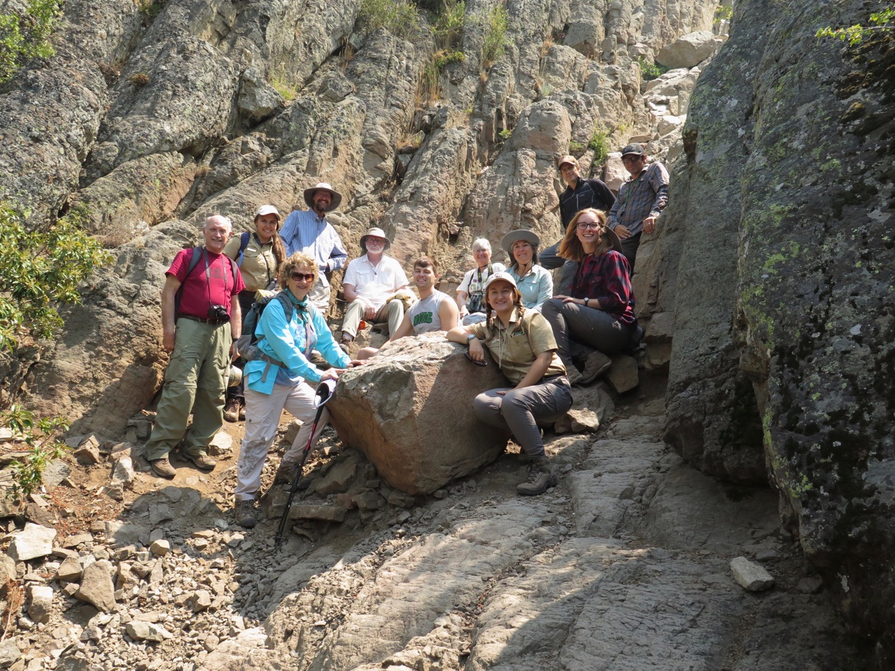Our group at the base of Pilot Rock E Thompson photo
