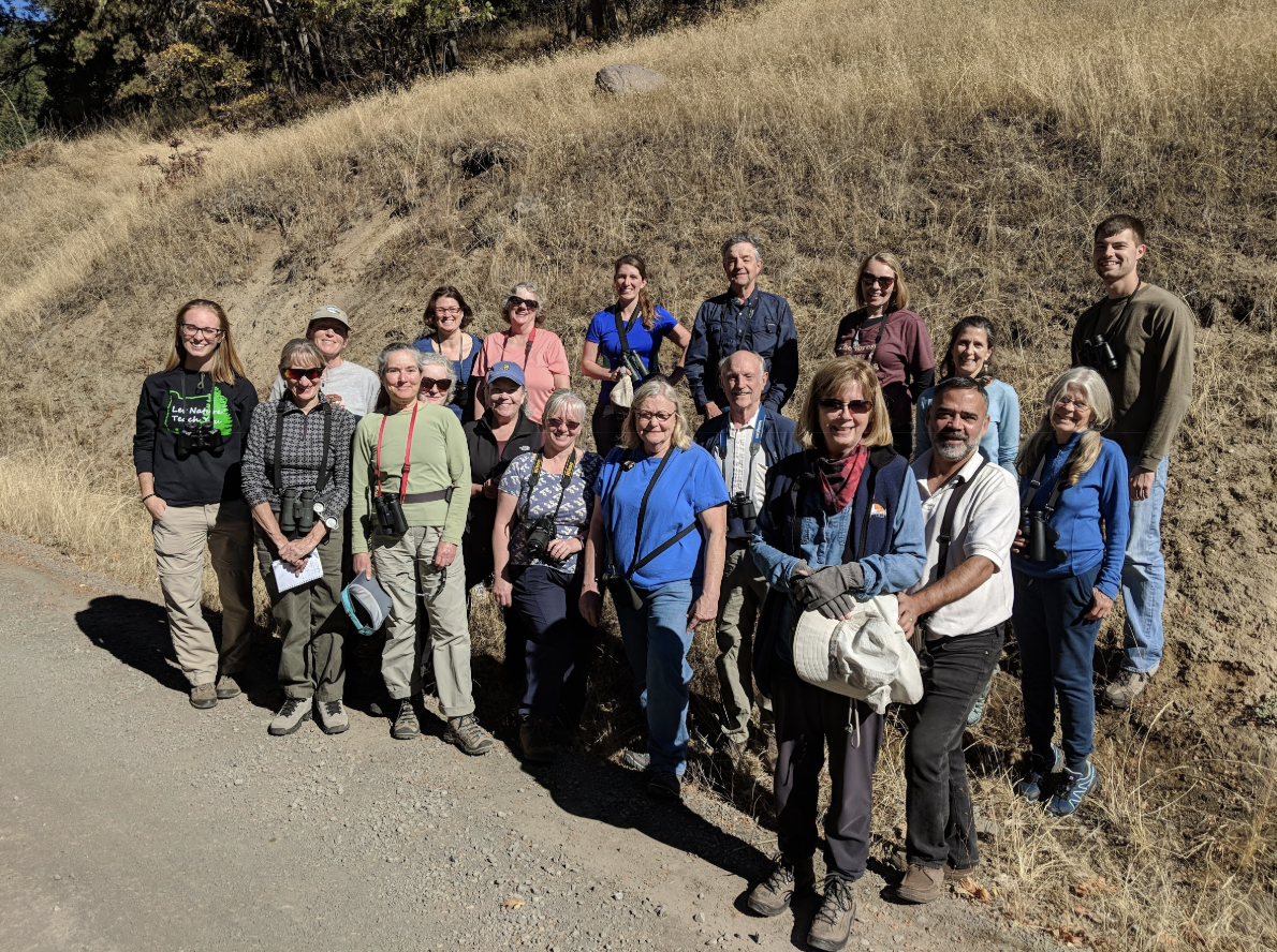 Group photo along Soda Mountain Road.