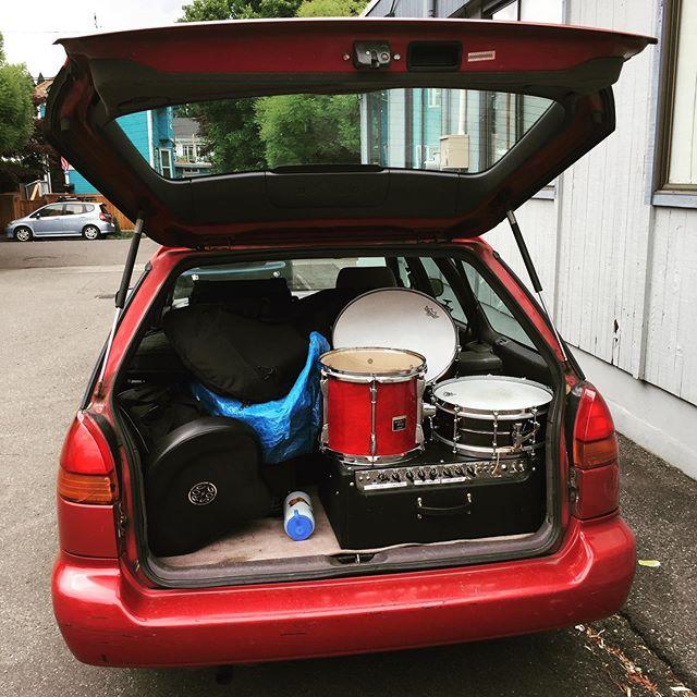 Obligatory Jam Packed Recital Car Photo.  #pacificguitarstudio