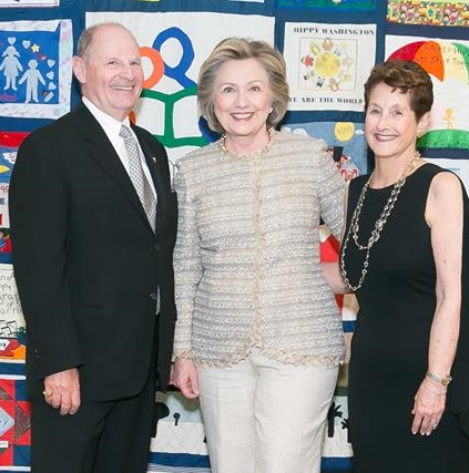 Linda and Eli Frank with Hillary Rodham Clinton at the HIPPY USA 25th anniversary celebration in April. To hear Mrs. Clinton's speech to HIPPY, go to the HIPPY website:    www.hippyusa.org
