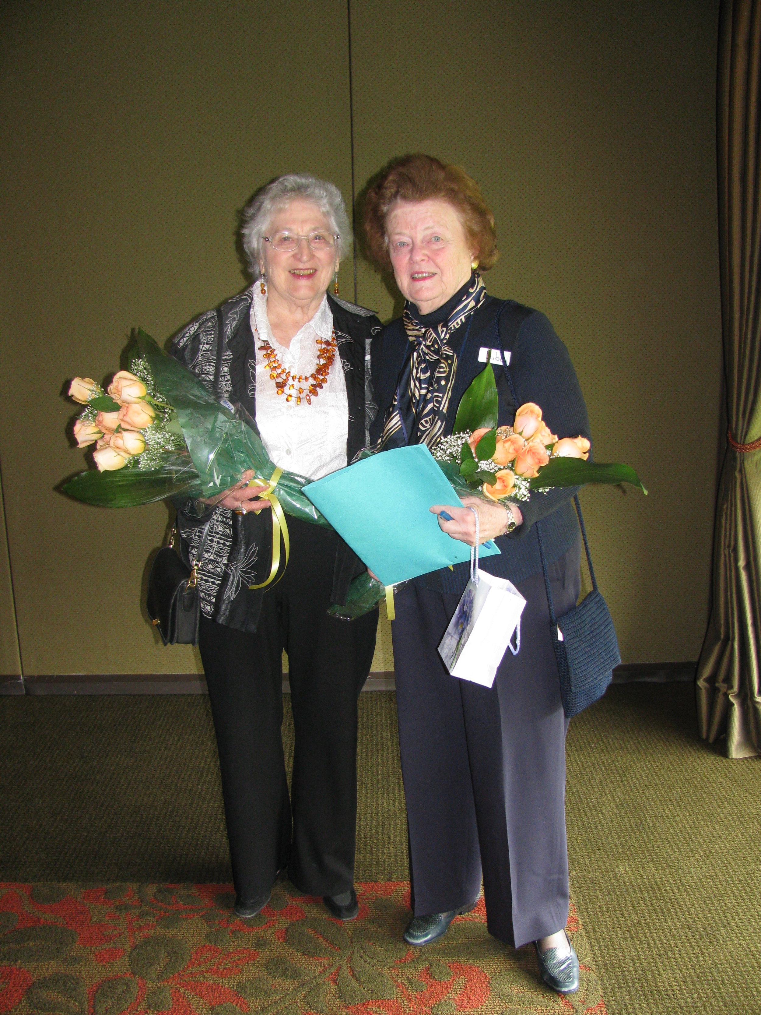 Norma Satten and libby denebeim - JCEHT's co-founders