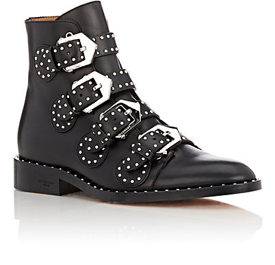 GIVENCHY STUD BUCKLE STRAP ANKLE BOOTS