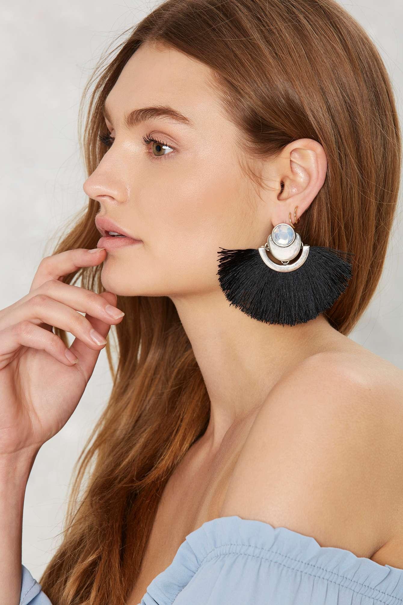 Big Fan Earrings, NastyGal