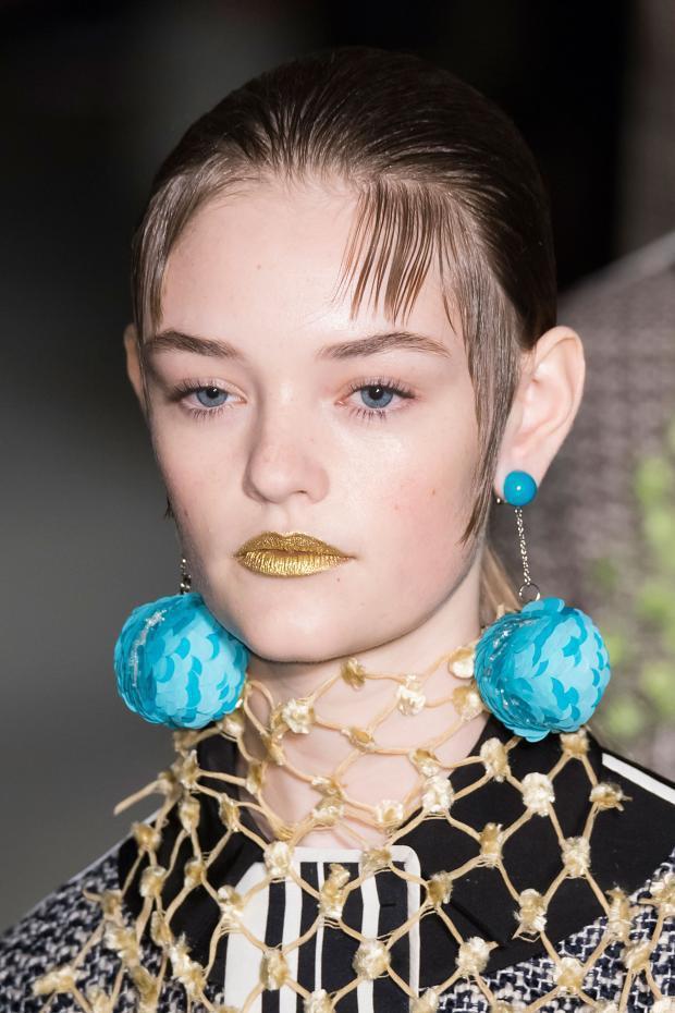 Sequin Ball Drop Earring, Prada
