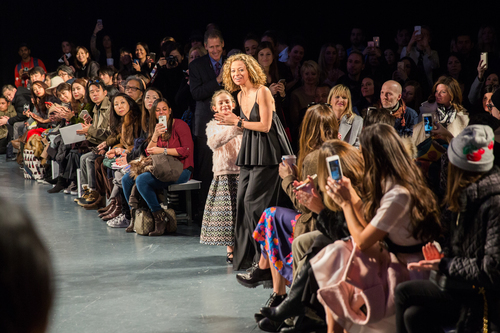 MILLY Designer Michelle Smith takes a bow.