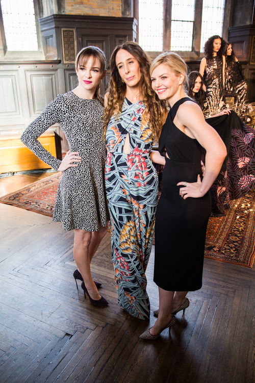 From left: Mara Hoffman poses for a photo with Jennifer Morrison and friend.