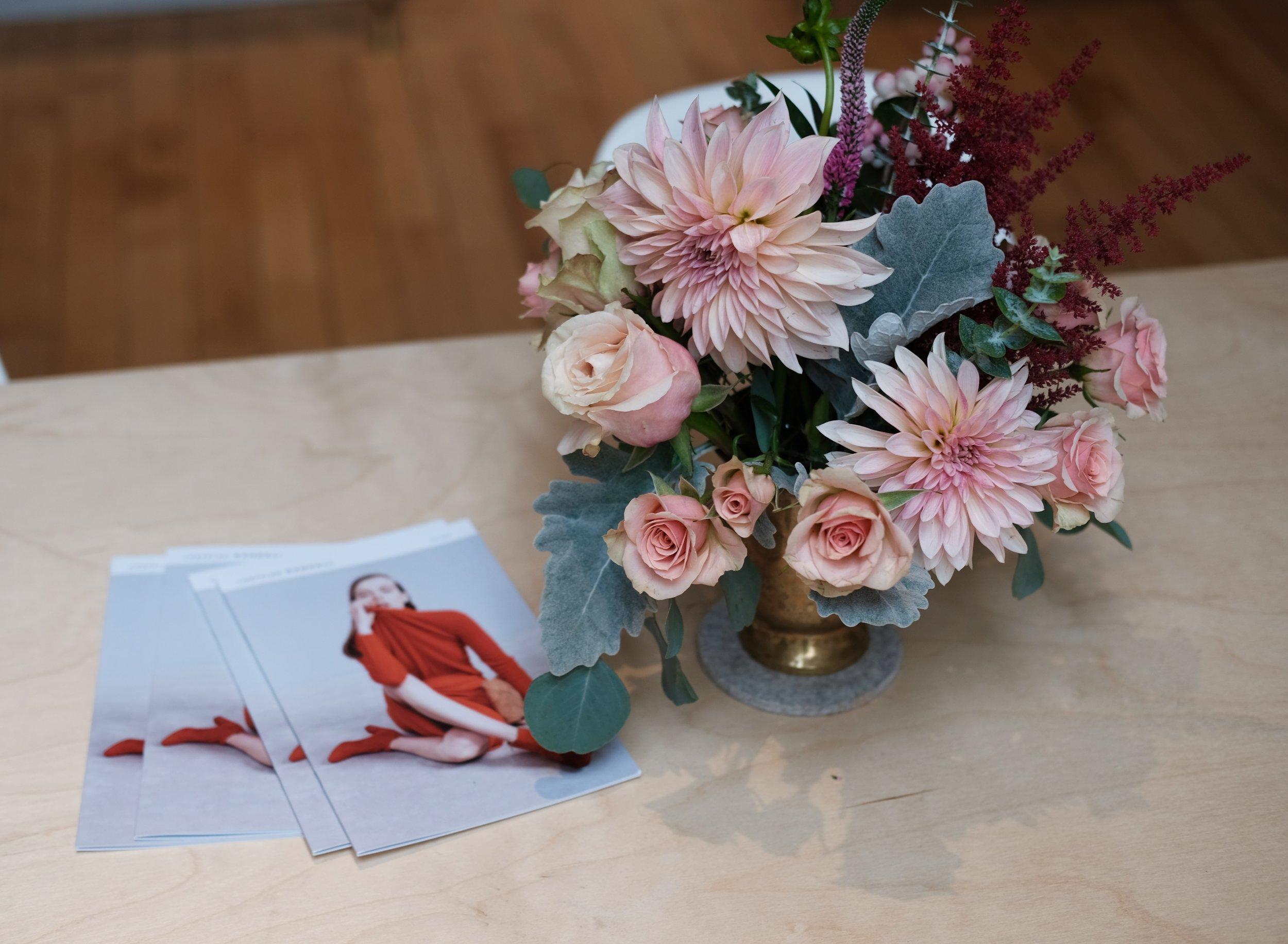 Inside LR. Flowers by  Cut Flowers.