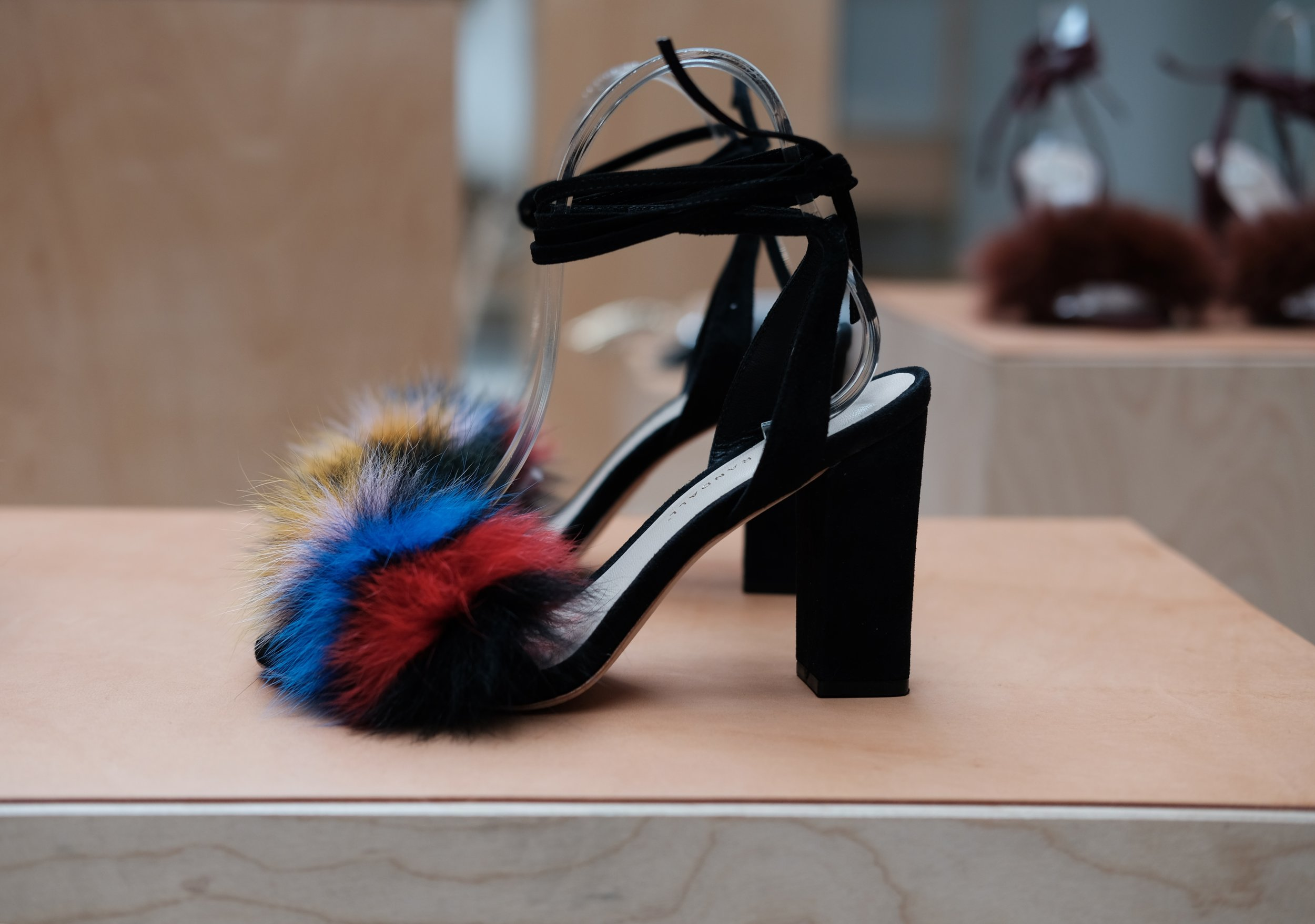 Nicolette High Heel Sandal in Multi.