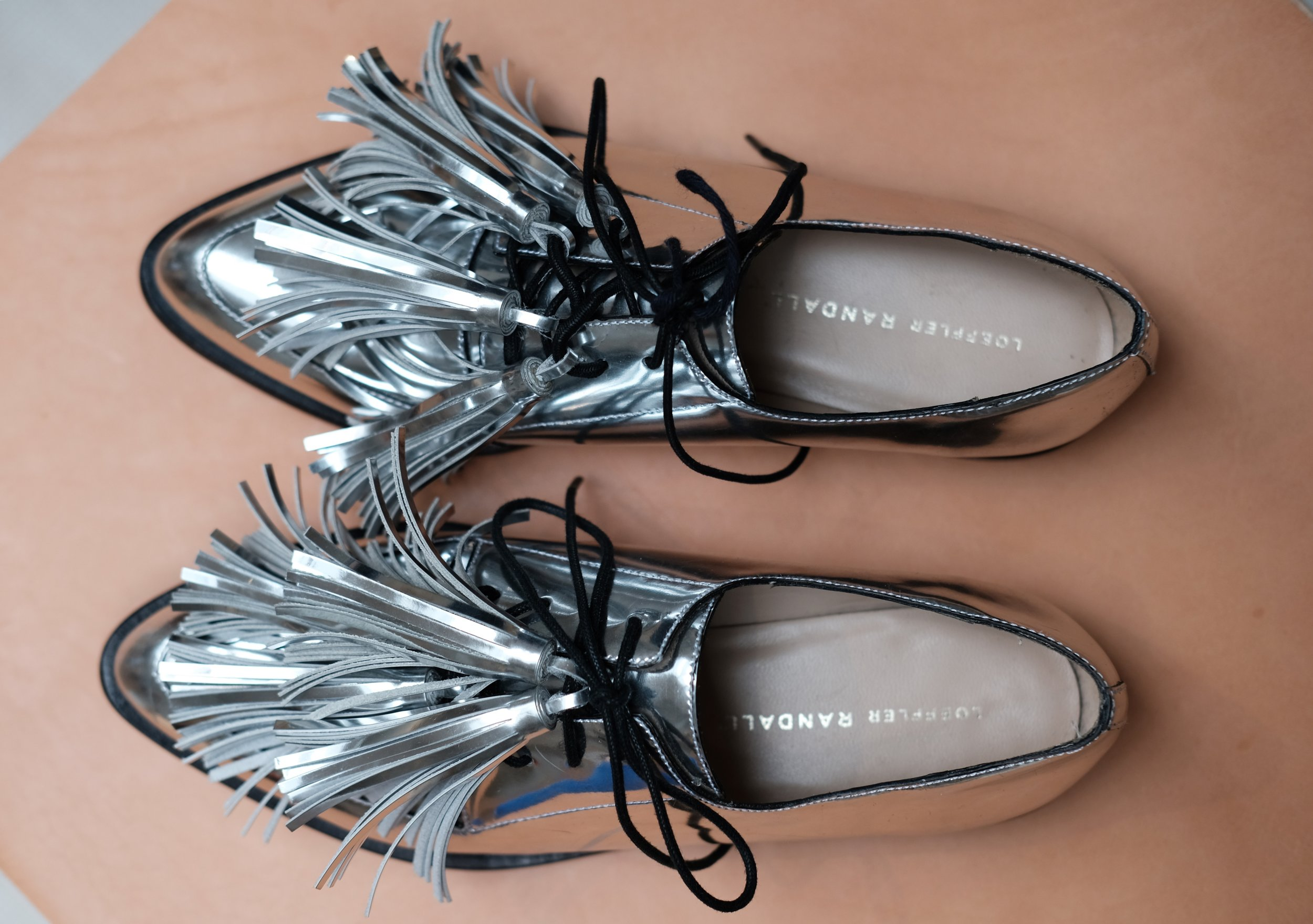 Jasper Tassel Oxford in Silver.
