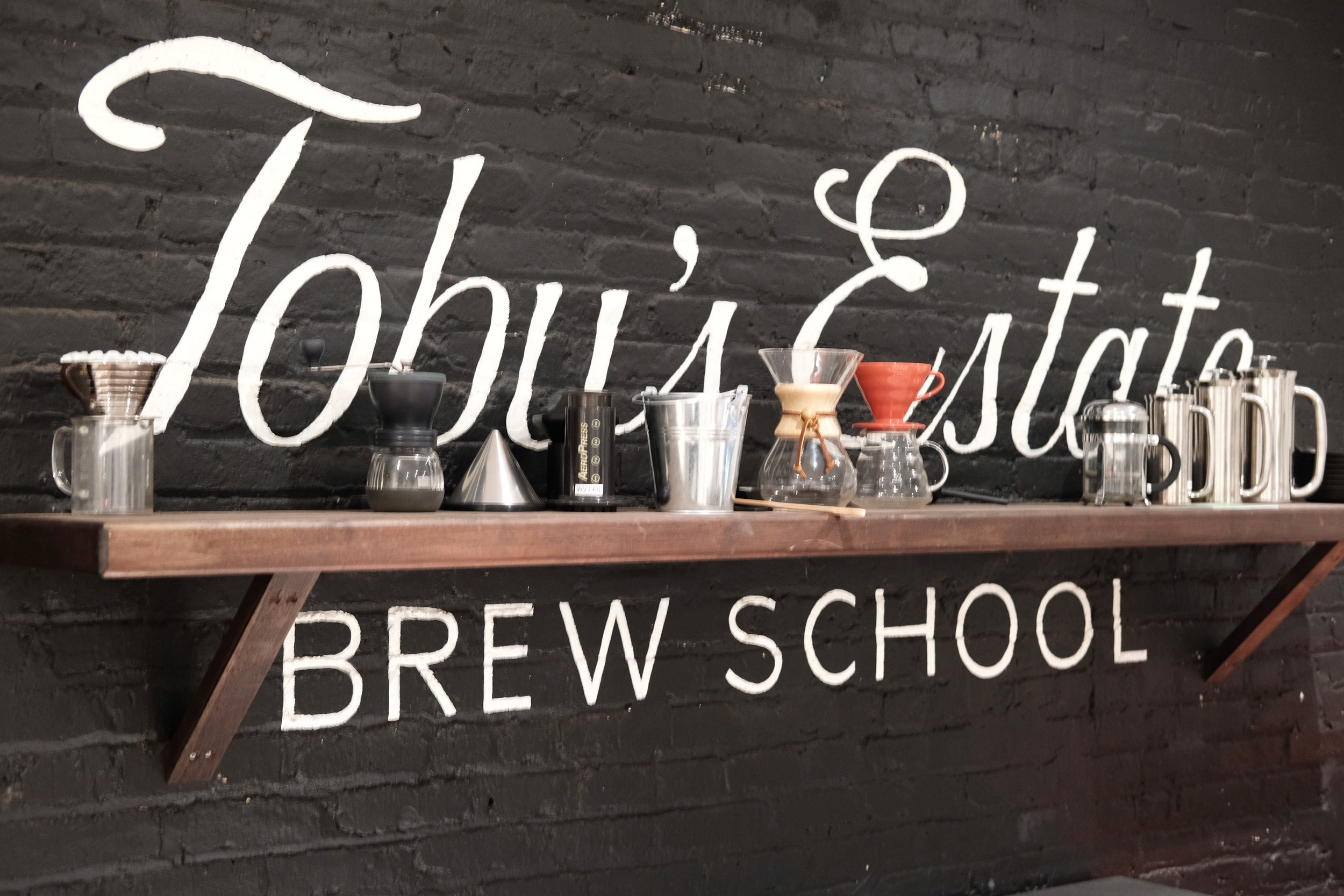 Brew School at Toby's Estate, Charles Street.