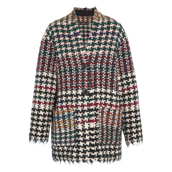 Isabel Marant  Diana Houndstooth Tweed Coat