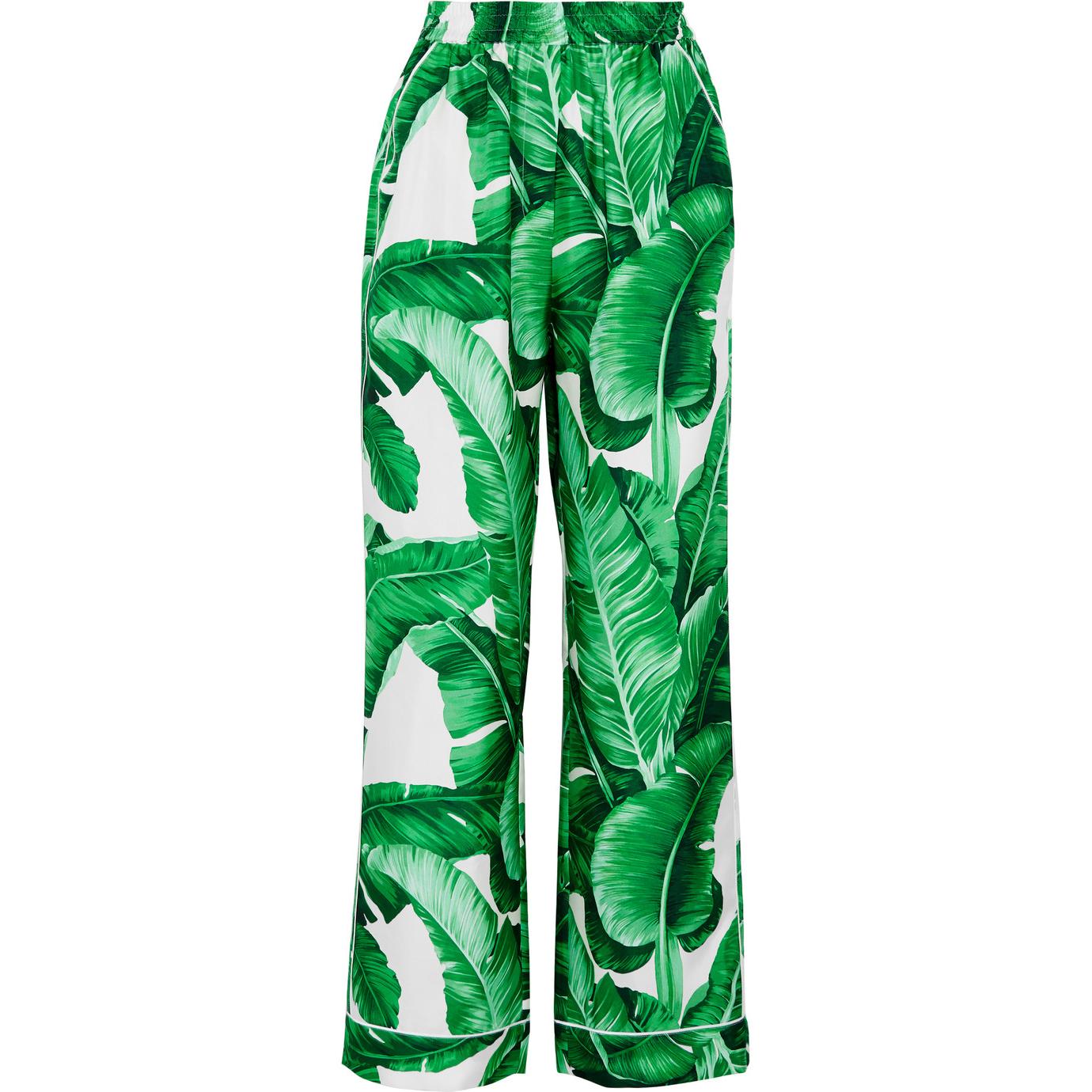 Dolce & Gabbana  Printed Silk Twill Pants