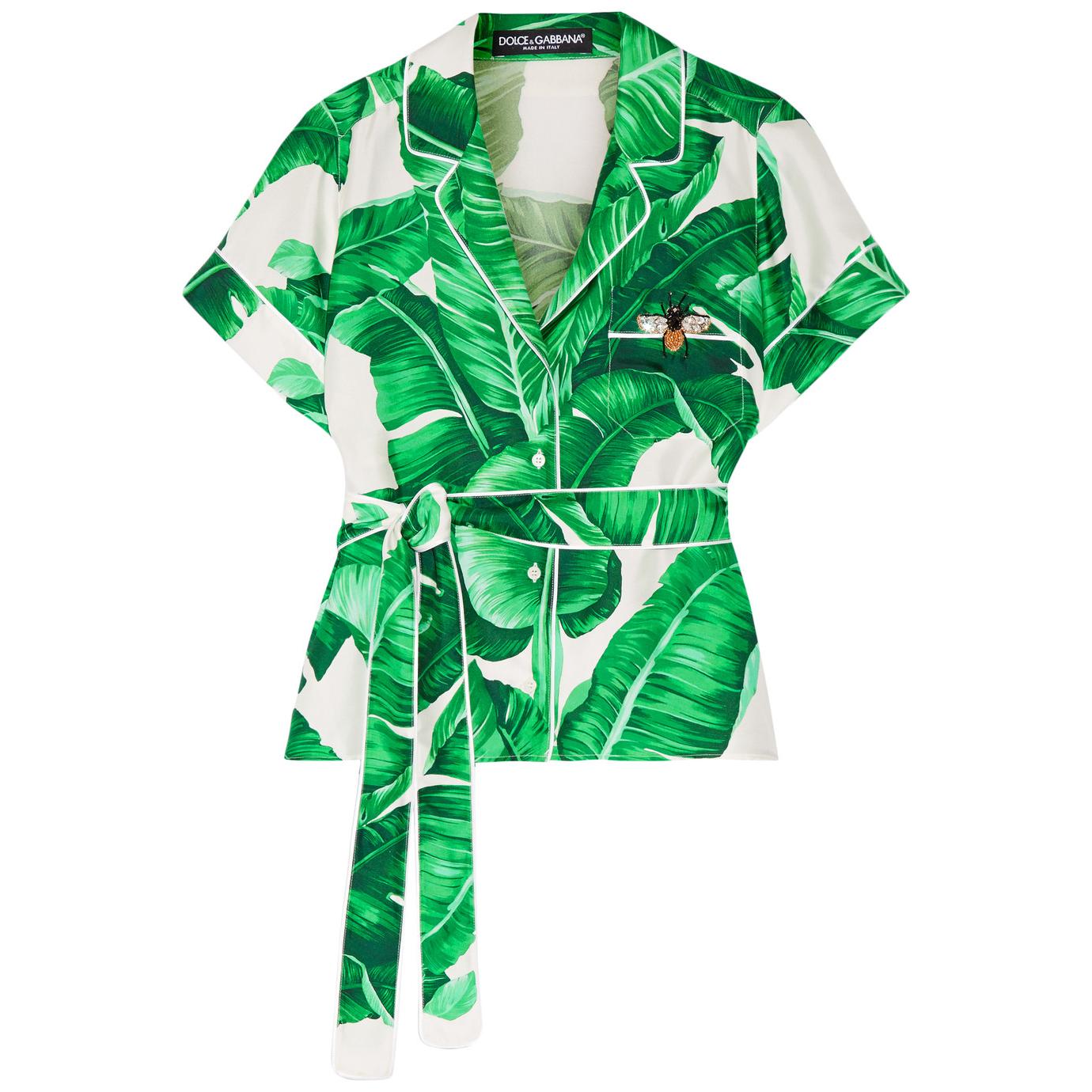 Dolce & Gabbana  Printed Silk Twill Shirt
