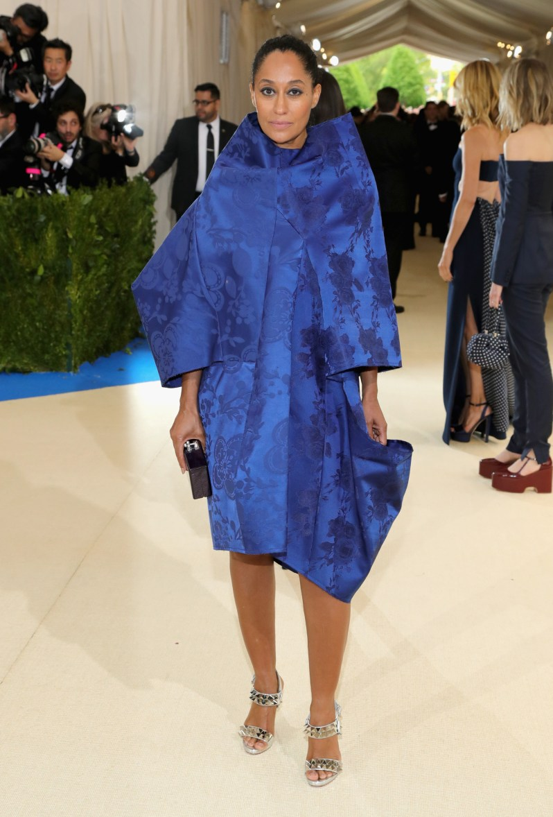 Tracy Ellis Ross wears wears Comme des Garçons.