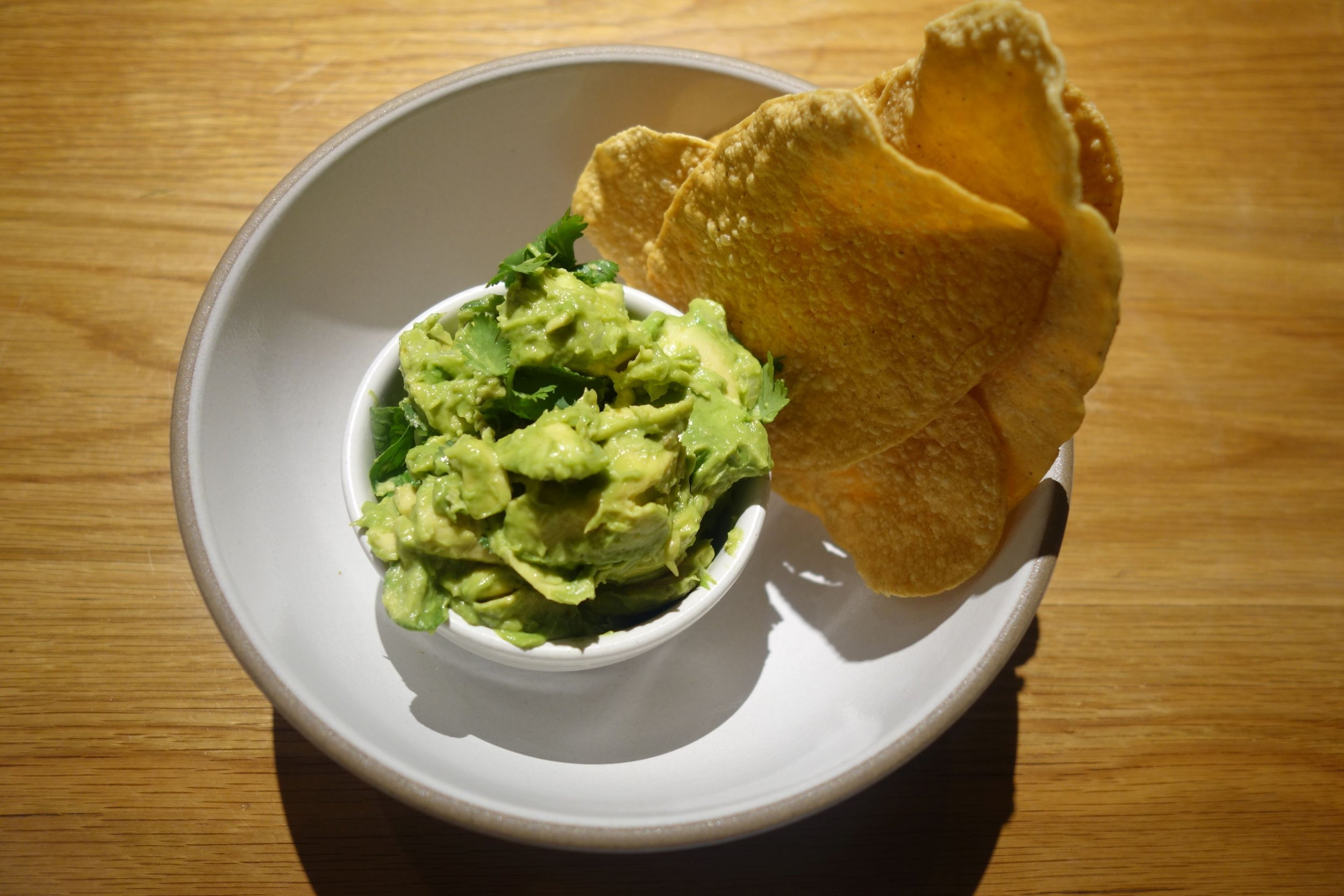 Guacamole & homemade chips.