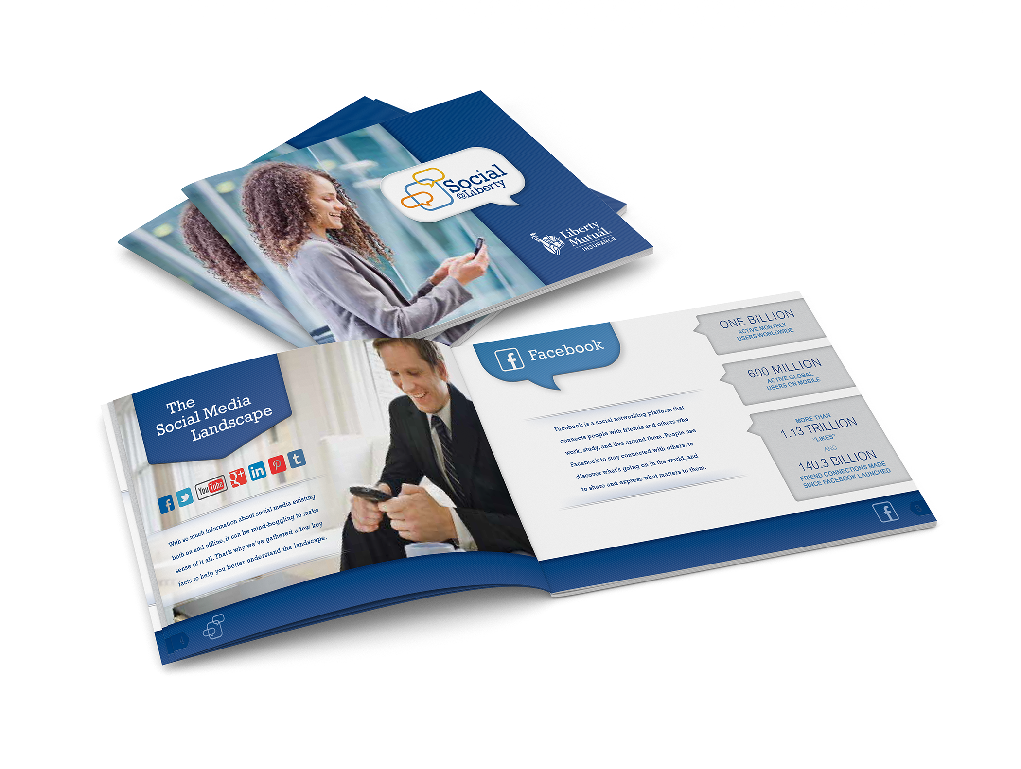 Corporate collateral designed for Liberty Mutual.