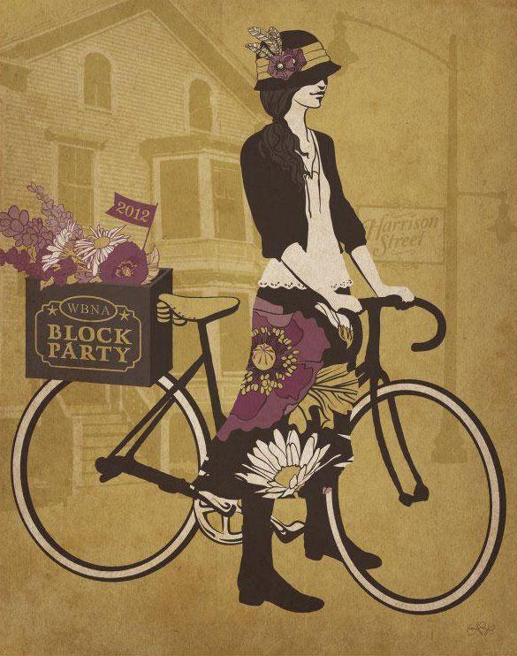 Art Print designed as a fundraiser for the West Broadway Neighborhood Association.