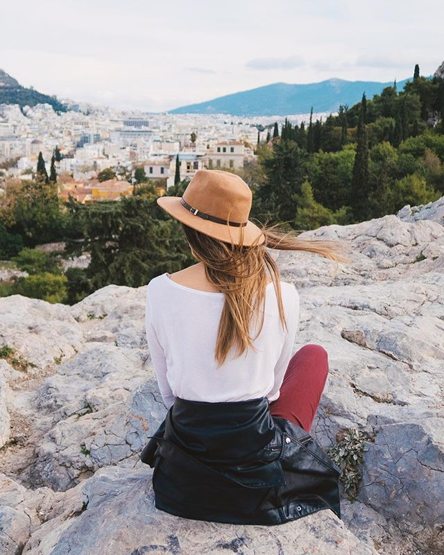 Athens, Greece.  One of my favorite trips while studying abroad. The history, the culture, the food... man it was amazing! Loved spending time with @kenzieschmutz on this lookout overlooking the city.