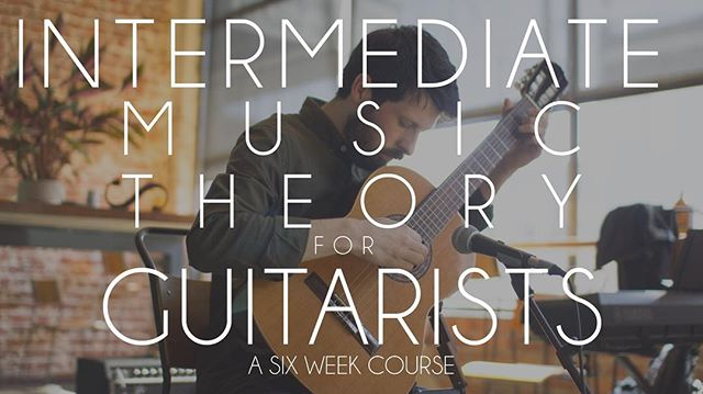 "In September we will be running a very special six week short course in intermediate music theory with guitarists in mind.  Find a way out of confusion  With an emphasis on practicality, clarity and simplicity, you will leave with a new roadmap of how music works.  Playing guitar will never make more sense!  This course is in response to our beginners music theory course, our latest offering: Intermediate Music Theory for Guitarists builds on the basics.  If you have a little bit of knowledge about guitar but are dying for more, this course is for you.  This course is formatted for all intermediate guitarists.  If you only know a handful of chords but just don't know how everything ""fits together"" this is a perfect opportunity!  We will work step by step and each week connect more dots.  This course does not require you to be able to read music! If you learn 'by ear' or by 'TAB' you will still be at home here.  Go into more detail with chords, beyond major and minor.  What chords work together and why?  How do you make a chord progression? What makes chords work together? How do you change key?  Explore more interesting harmony, like jazz chords and jazz progressions.  What are the overall principles that guitarists use when playing playing a solo, riff or guitar lick?  How to see and hear the simple patterns in every song you play  Make sense of your guitar fretboard once and for all!  MUSIC THEORY FOR GUITARISTS A SIX WEEK COURSE  TUESDAY EVENINGS 7PM  ONE HOUR SESSIONS STARTING TUESDAY SEPTEMBER 11TH  LIMITED TO 10 PARTICIPANTS  SELLING FAST  FINAL SLOTS REMAINING $120 FOR WHOLE COURSE  To take your place, email, phone, or send us a message on instagram."