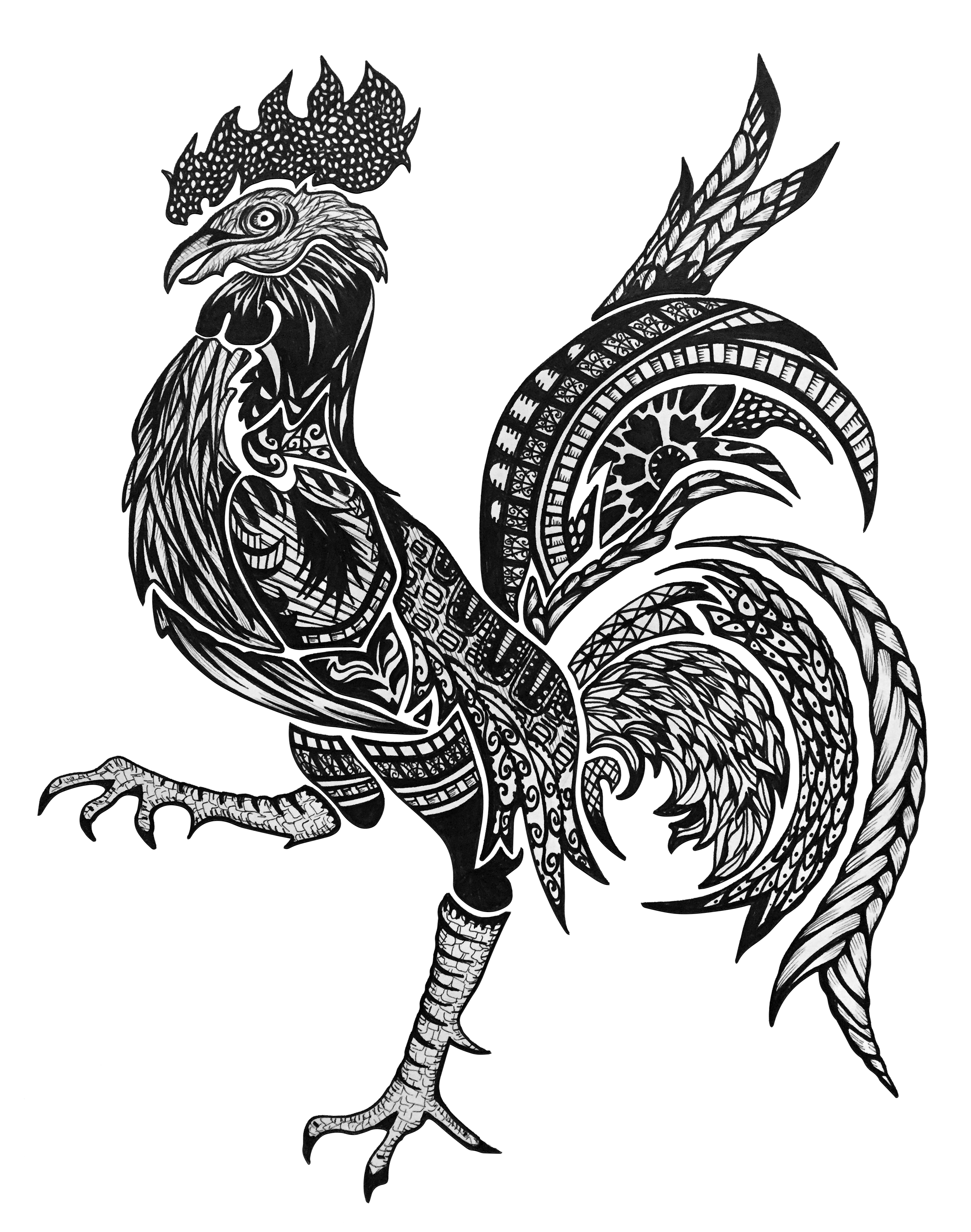 French Rooster; Inspired by Parisean Architecture