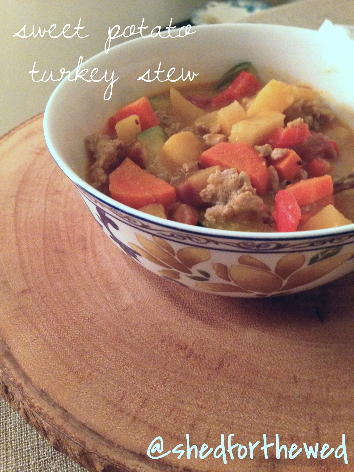 Sweet Potato Turkey Stew. YUM!